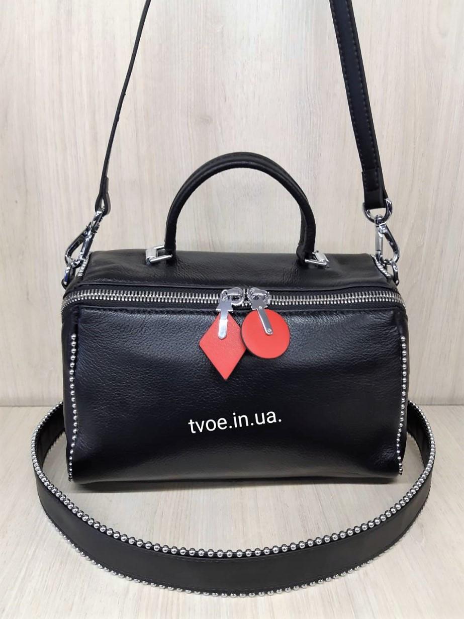 Женская кожаная стильная сумочка