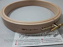 Пяльцы Nurge деревянные с винтом, диаметр 160 мм (арт. 120-3)