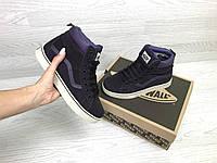 Подростковые зимние кроссовки Vans 6786 фиолтевоые, фото 1