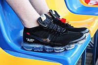 Кроссовки мужские Off White X Nike Air VaporMax Black   AA3831-002 (Найк  ВапорМакс c586a701196