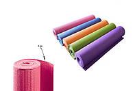 Коврик для фитнеса и йоги 0359 (гимнастический коврик): 173х61см, толщина 4мм (5 цветов)