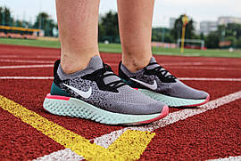 Кроссовки женские Nike Epic React Flyknit / AQ0067-011 (Реплика)