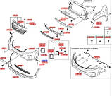 Кронштейн переднього бампера лівий нижній, KIA Sorento 2012-14, 865772p000, фото 3