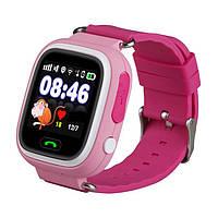 Детские смарт-часы Q100 с GPS Розовые (12141)