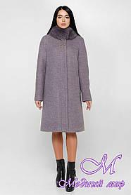 Женское теплое зимнее пальто большого размера (р. 44-58) арт. 990 Тон В5