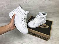 Подростковые зимние кроссовки Vans 6790 белые
