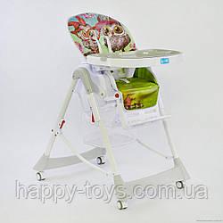 Детский стульчик для кормления серый JOY J 2050