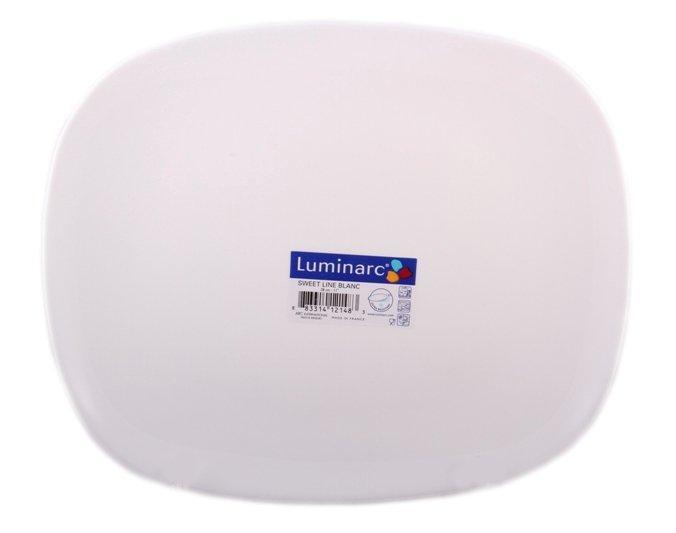 Тарелка обеденная Luminarc Sweet Line White прямоугольная 23х28 см (J0587)