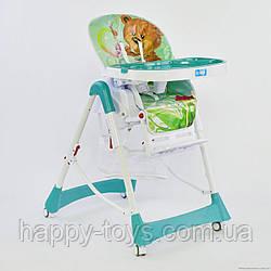 Детский стульчик для кормления зеленый JOY J 3900