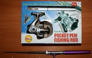 """Удочка карманная с катушкой """"Pocket pen fisheng rod"""""""