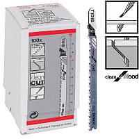 Пилка для лобзика Bosch T 101 B, HCS 100 шт/упак.
