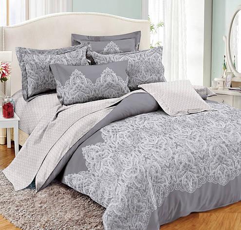 Двуспальный комплект постельного белья 180*220 сатин (10702) TM КРИСПОЛ Украина, фото 2