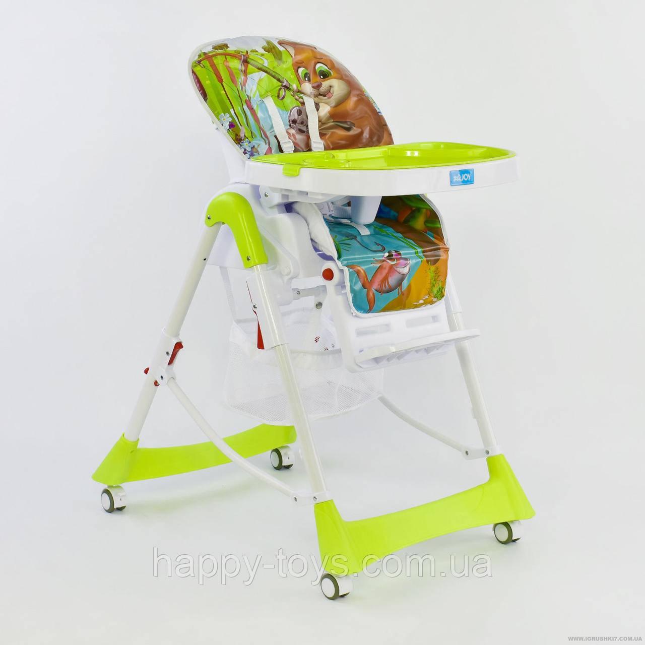Детский стульчик для кормления салатовый JOY J 4100