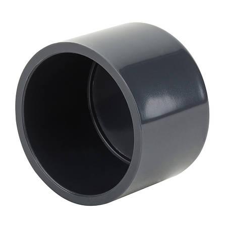 Заглушка ПВХ ERA клеевая, диаметр 125 мм., фото 2
