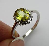 Редкий камень. Кольцо с натуральным сфеном (титанитом) 1.55ct