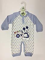 Человечек для мальчика с Микки Маусом 68 см, 74 см, 80 см, Дисней