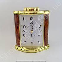 Настольные часы будильник Pearl PR7 прямоугольник подсветка арабские цифры разные цвета Золотистый, фото 1