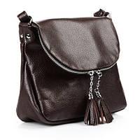 Кожаная женская сумка Марсель шоколадная