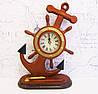Штурвал морской-часы из дерева