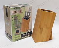 Подставка для ножей Hilton BP 1228 настольная бамбук, фото 1