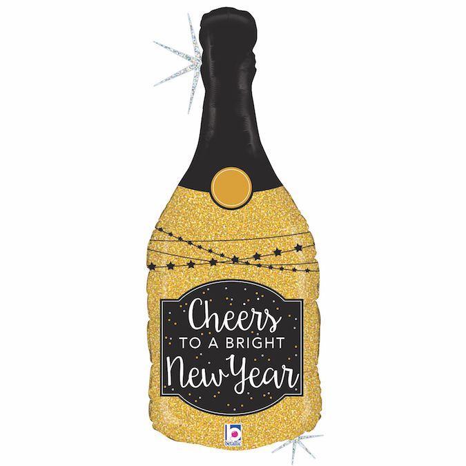 Фол шар фигура Золотое шампанское Новый год (Грабо)