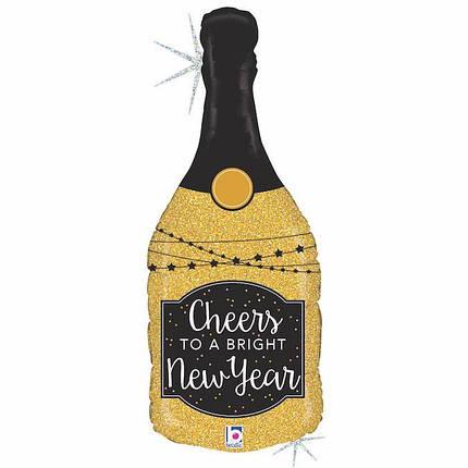 Фол шар фигура Золотое шампанское Новый год (Грабо), фото 2
