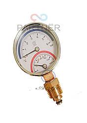 Термоманометр (манометр+термометр) 1/4 120С,1-6 bar