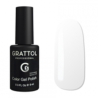 Grattol Gel Polish White №001, 9ml