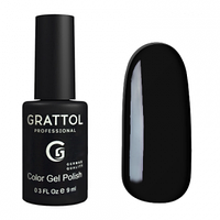 Grattol Gel Polish Black №002, 9ml