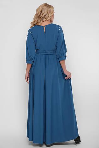 Красиве довге плаття в підлогу Вів'єн бірюзове, фото 2