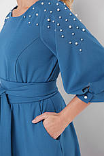 Красиве довге плаття в підлогу Вів'єн бірюзове, фото 3