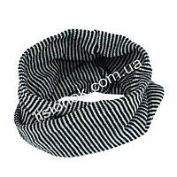 Шарф хомут снуд вязаный серо-черный, фото 1