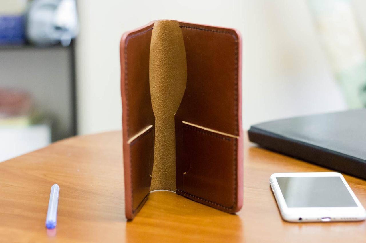 Портмоне чехол для документов для путешествий из натуральной кожи ручной работы Revier, фото 1