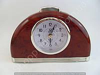 Настольные часы будильник Pearl PR1 полукруглые с подсветкой арабские цифры шаговый ход Серебристый, фото 1