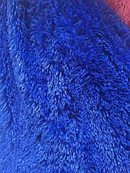 Покрывало меховое  травка 160х200 цвет синий