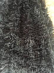 Покрывало меховое  травка 160х200 цвет темно-серый