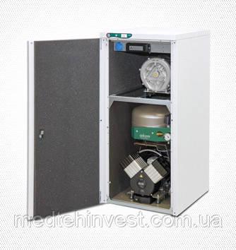 Безмаслянный компресор EKOM DUO 2V з пиловідводним агрегатом в одному корпусі