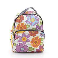 """Городской рюкзак """"Белые цветы» CL-(2003), фото 1"""