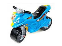 Мотоцикл-беговел (толокар каталка) 2-х колесный 501 Орион желто-голубой