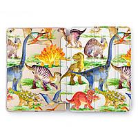 Чехол книжка, обложка для Apple iPad (Милые динозавры) Air 1 / 9.7 (2017 2018) A1474/A1475/A1476/A1822/A1823/A1893/A1954 айпад case smart cover