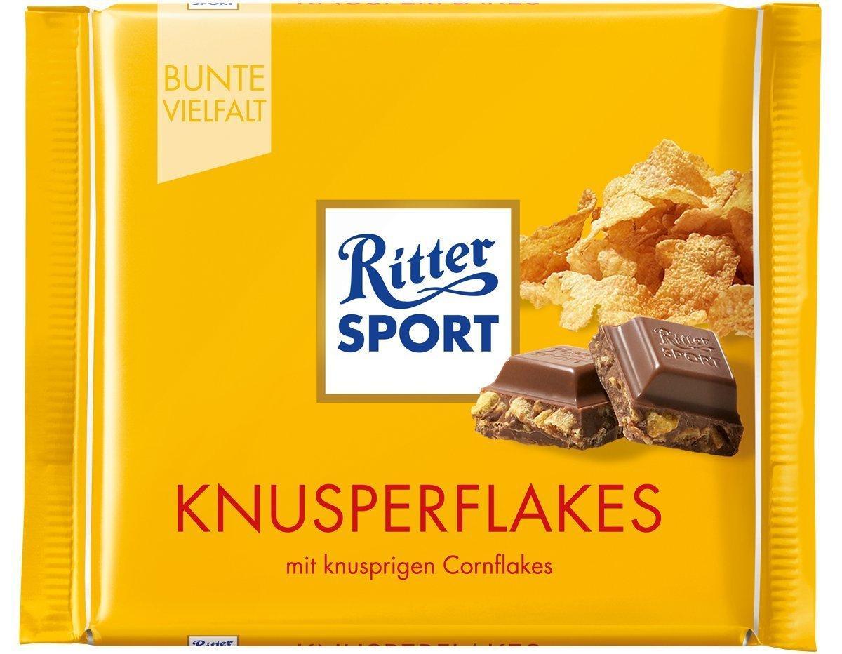 Шоколад Ritter Sport Knusperflakes (Риттер Спорт с кукурузными хлопьями), 100 г