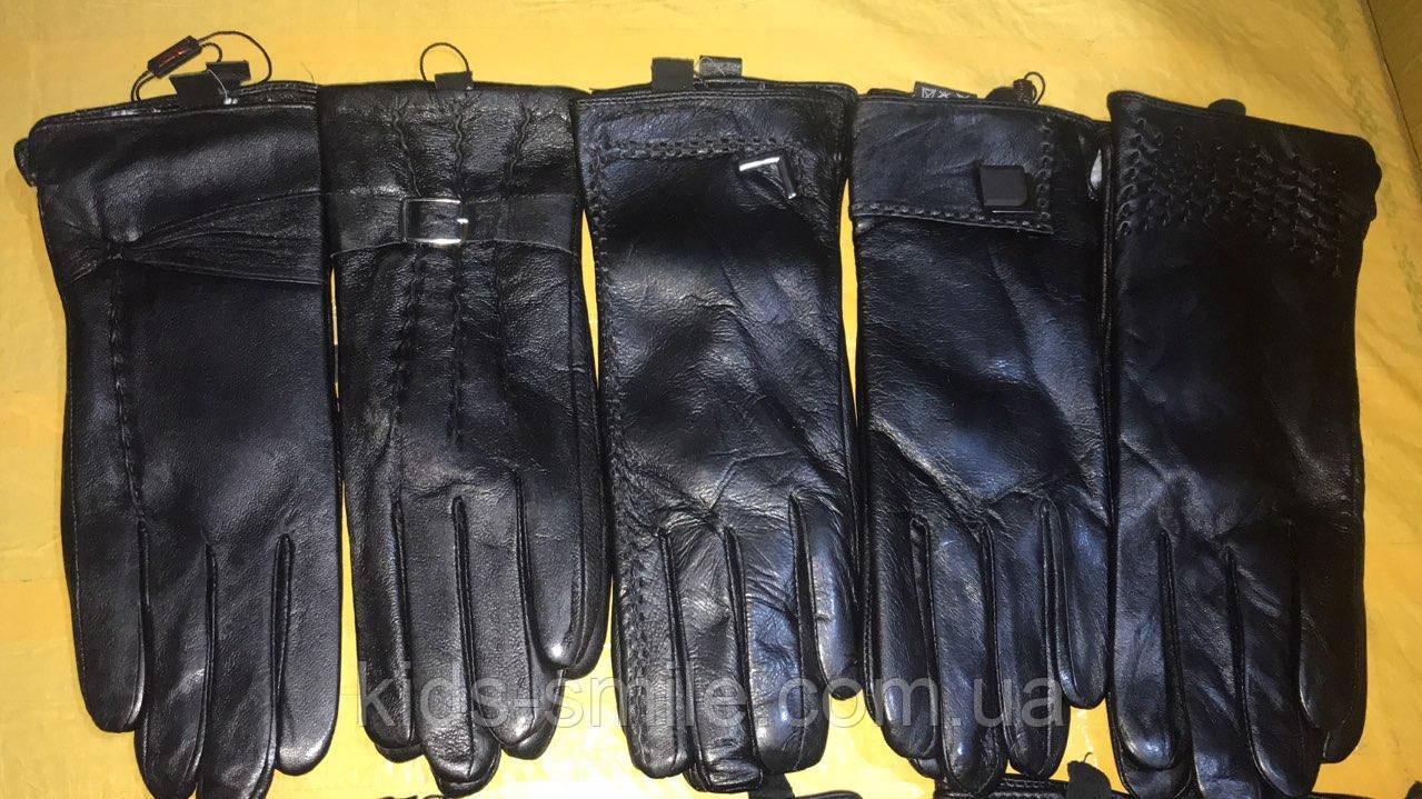 Женские перчатки кожаные ( Мех кролик  )