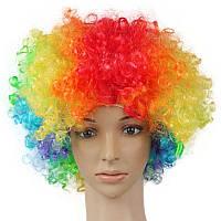 Парик клоуна цветной пышный