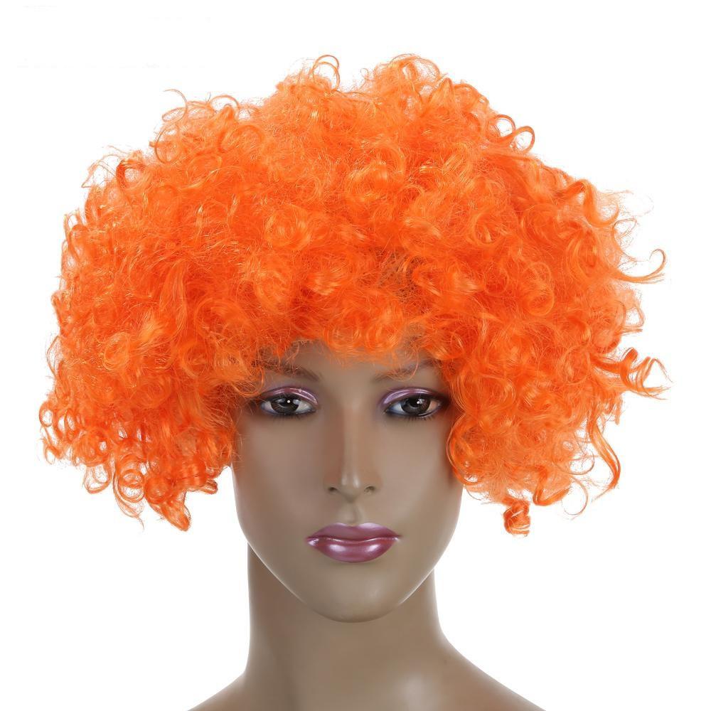 Парик кудрявый пышный оранжевый