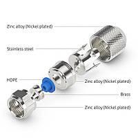 F-коннектор PureLink EF010 Easyfit на коаксиальный кабель 6.8 - 7 мм 50 шт., фото 1