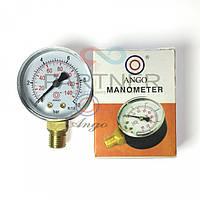Манометр 1/4 0-6 bar, нижнее подлючение (673)