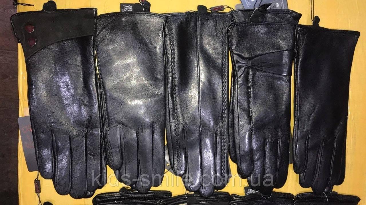 Женские перчатки кожаные ( Шерсть )