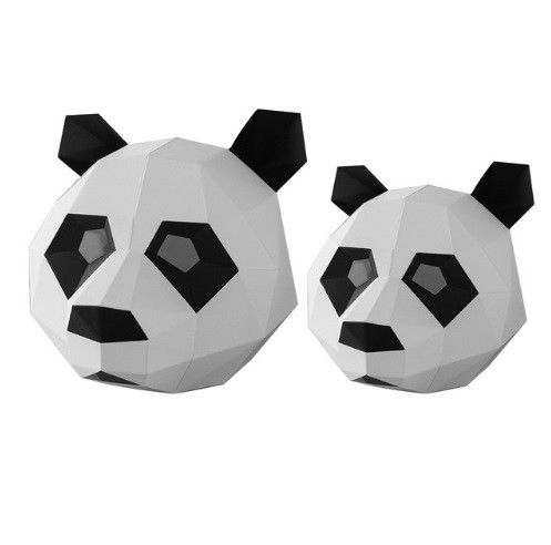 Маска панды из картона, ручная сборка. Голова панды бумажная для детей!