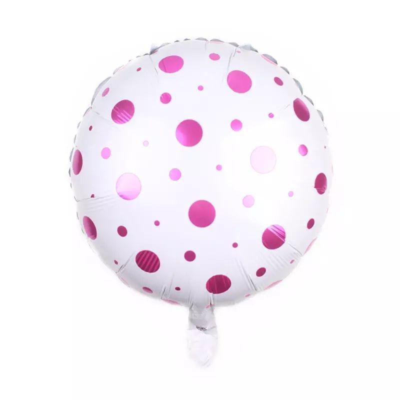 Фольгированный шар Полька малиновый, 45*45 см