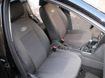 Чехлы на сиденья Митсубиси Аутлендер ХЛ (Mitsubishi Outlander XL) (универсальные, кожзам+автоткань, с отдельным подголовником)